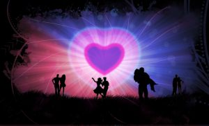 animated picture of several couples dancing under a pink heart