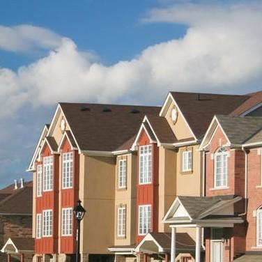 photo of row houses