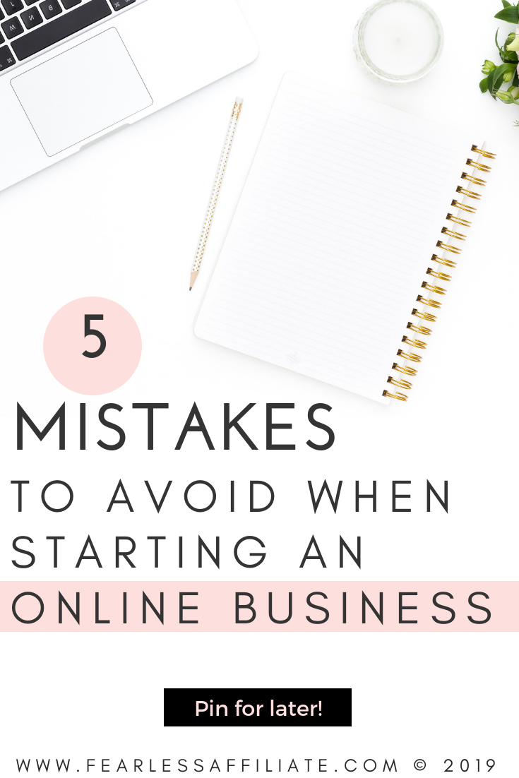 5 Mistakes to Avoid When Starting an Online Business
