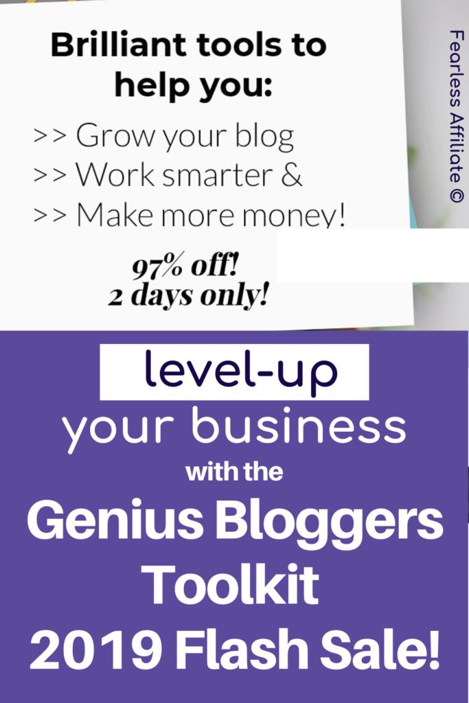 Genius Bloggers Toolkit 2019 - Flash Sale May 2020