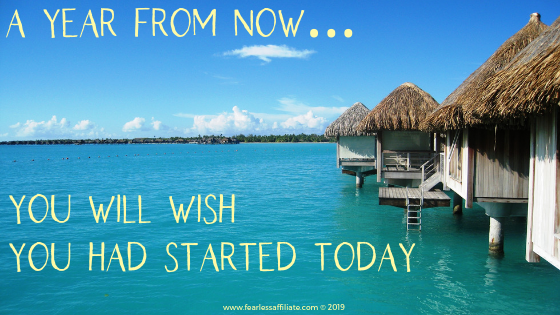 Quote: A year from now you will wish you had started today
