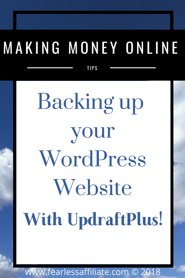 Backing up your wp website with UpdraftPlus