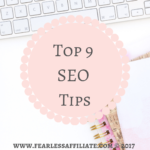 Top 9 SEO Tips!