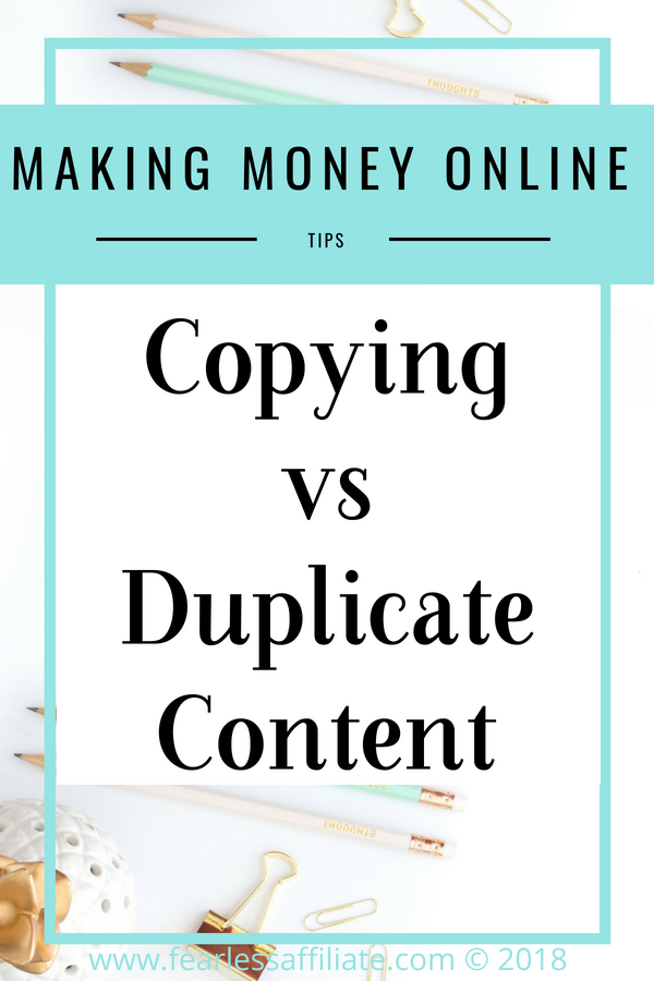 Copying vs Duplicate Content