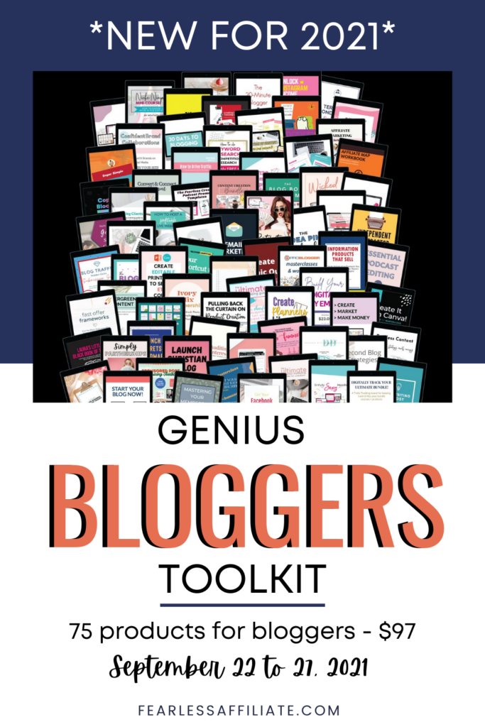 Genius Bloggers Toolkit for 2021