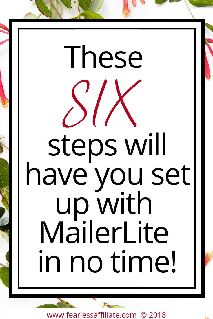 6 Steps to setting up MailerLite