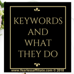 Keywords And What They Do