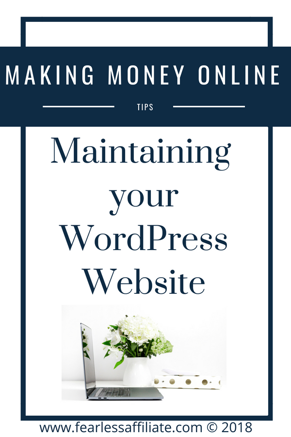 Maintaining Your WordPress Website