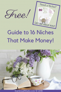 free guide to 16 niches that make money