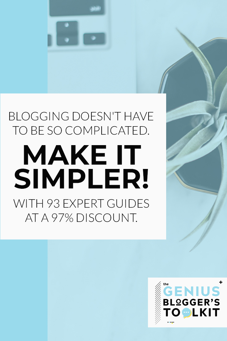 Genius Bloggers Toolkit is filled with the most amazing and helpful tools for your blogging needs! From beginner blogger to online expert, you cannot go wrong purchasing this bundle. Be ready for any expansion of your blog by having products ready to implement. #ultimatebundles #geniusbloggerstoolkit #bloggingtools
