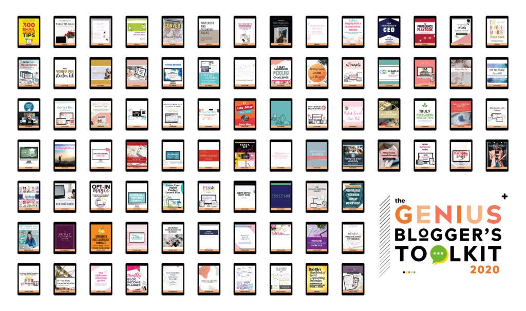 Genius bloggers toolkit showcase of items