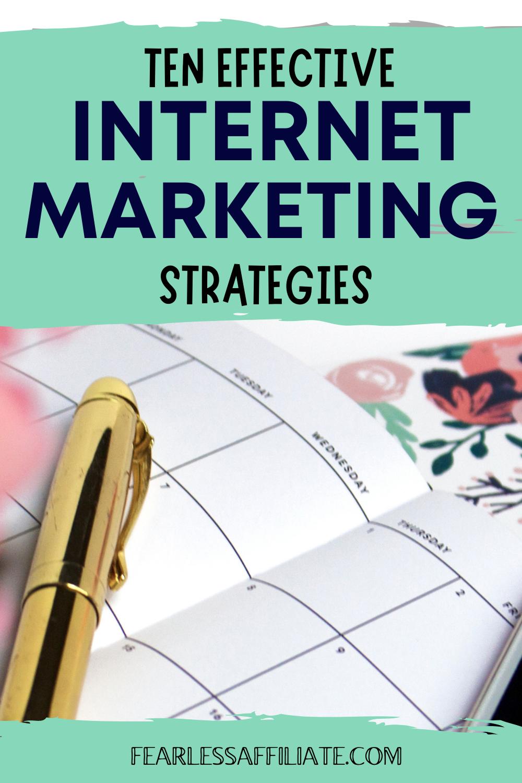 Top 10 Internet Marketing Strategies
