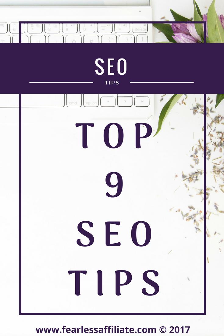 TOP 9 SEO Tips