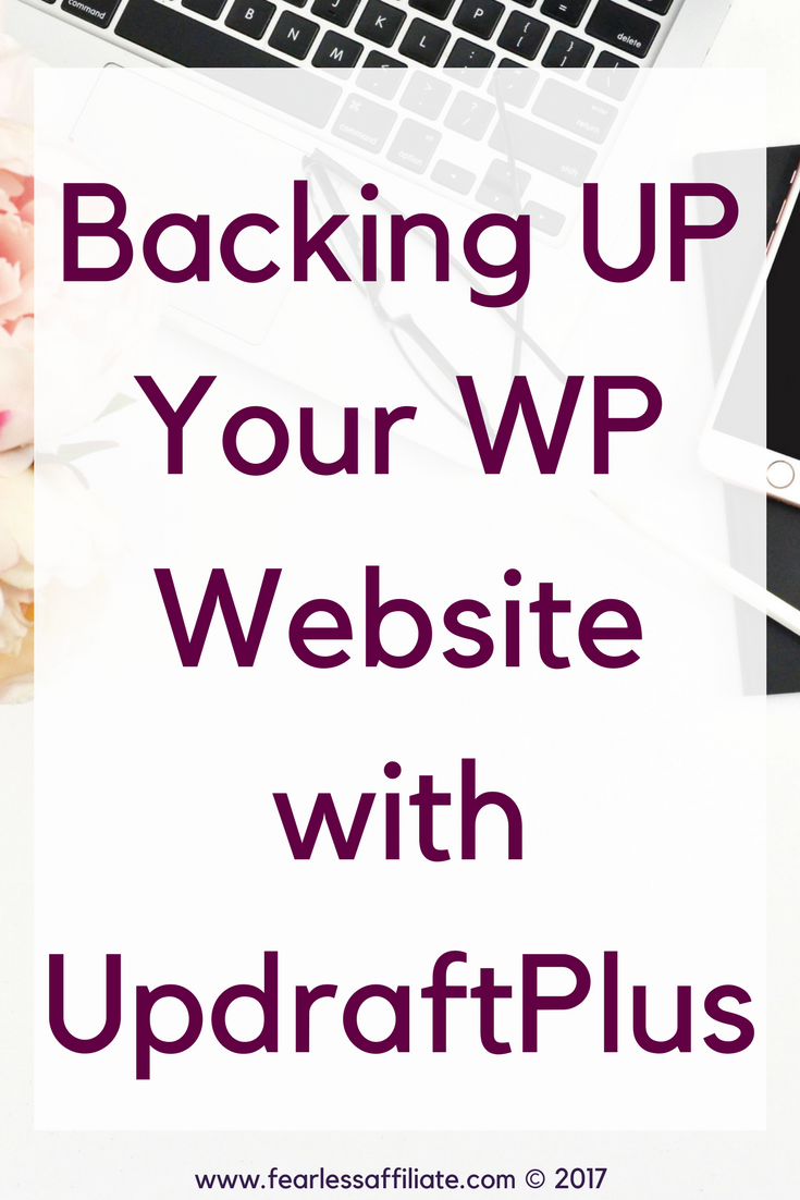 backing up your wordpress website with updraft plus