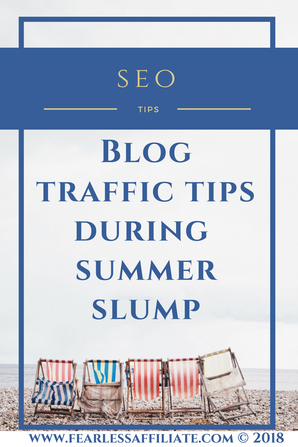 Is summer slump real? What can bloggers do to avoid summer slump? I have a bunch of suggestions for making good use of this time. When the audience is at the beach, the bloggers need to get going...on content...and other stuff. #summerslump #productivityforbloggers #optimizewebsite #successmindset #webhosting