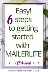6 steps to getting started with mailerlite