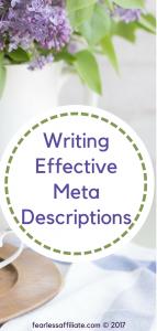 Writing effective meta descriptions