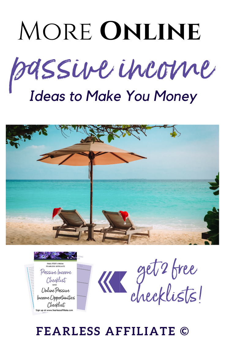 More Online Passive Income Ideas