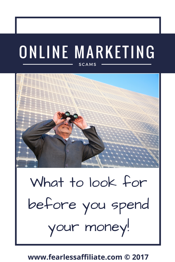 Online Marketing Scams
