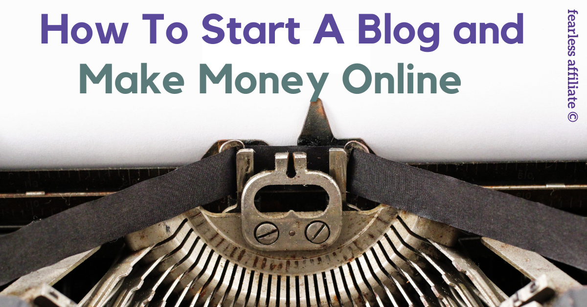 start a blog make money online