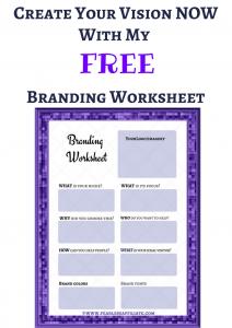 my branding worksheet