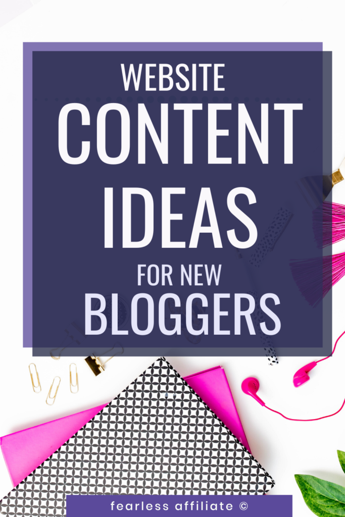 Website Content Ideas For New Bloggers